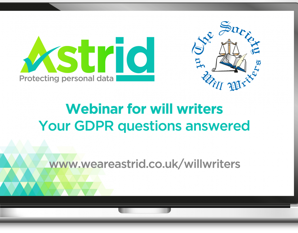Will writers GDPR questions answered